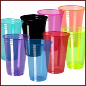 Copos Plásticos Coloridos
